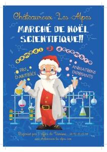 affiche marché noël 2016 à Chateauroux