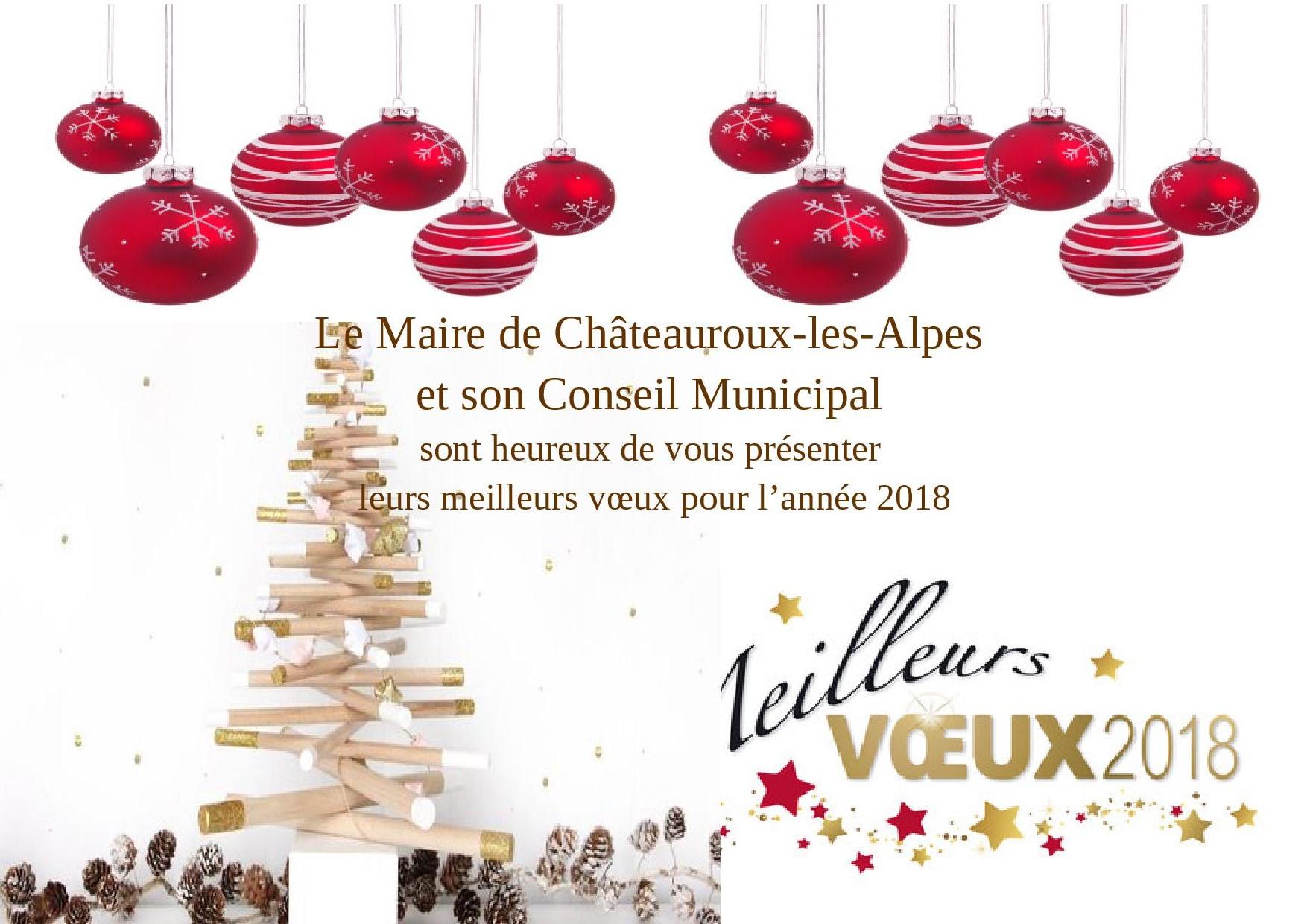 Vœux de la Mairie de Châteauroux-Les-Alpes